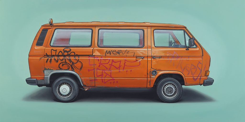 Kevin  Cyr -  <strong>Martin-Hoffmann</strong> (2014<strong style = 'color:#635a27'></strong>)<bR /> oil on panel,   24 x 48 inches  (60.96 x 121.92 cm)