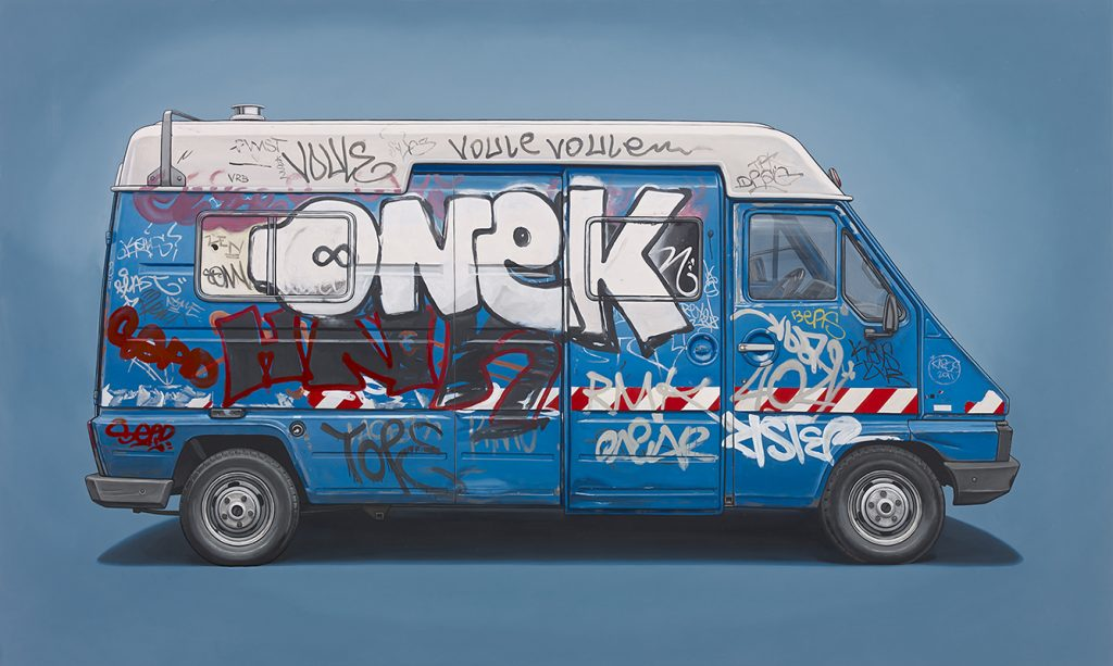 Kevin  Cyr -  <strong>Michelet</strong> (2014<strong style = 'color:#635a27'></strong>)<bR /> oil on panel,   36 x 60 inches  (91.44 x 152.4 cm)