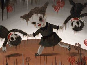 Gary Baseman, La Danse(2012) . Acrylic on canvas 18 × 24 in