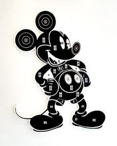 Dylan Egon -  <strong>Mickey Target</strong> (2019<strong style = 'color:#635a27'></strong>)<bR /> acrylic on birchwood  60 x 78 inches