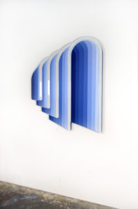 """Jenna Krypell -  <strong>Arches</strong> (2020<strong style = 'color:#635a27'></strong>)<bR /> 39"""" x 46"""" MDF, resin and acrylic paint"""