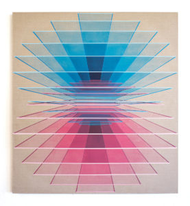 Daniel Mullen -  <strong>Circular Horizons</strong> (2021<strong style = 'color:#635a27'></strong>)<bR /> Acrylic on Linen 47.25 x 43.25 inches